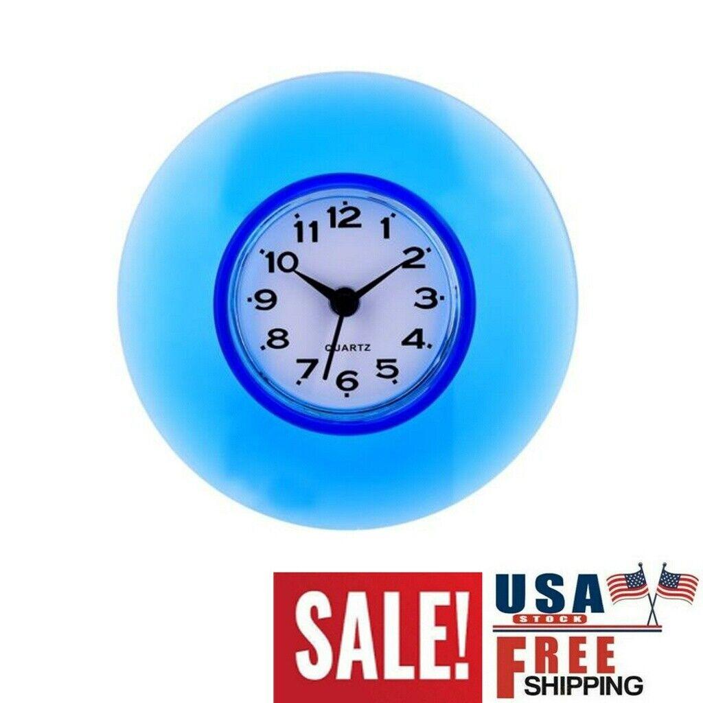Wall Clock Decor Shower Timer Hang Clock Bathroom Kitchen Waterproof Suction Cup Ebay