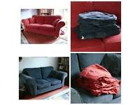 Two seater and three seater Sofa's with spare covers.