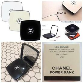 Chanel portable phone chargers/power bank and compact mirror all in one