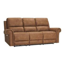 3 seat leather recliner sofa (1owner)