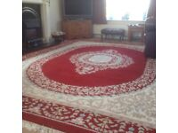 Dark red Indian rug