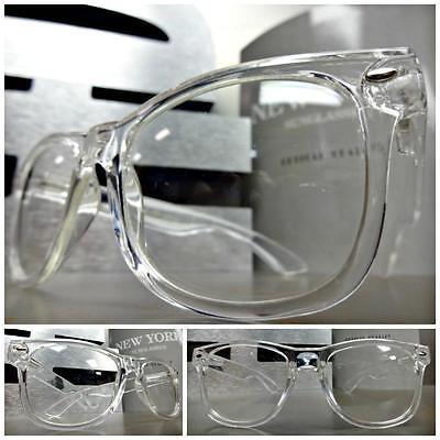 Men's Women VINTAGE RETRO Style Clear Lens EYE GLASSES TRANSPARENT CRYSTAL FRAME