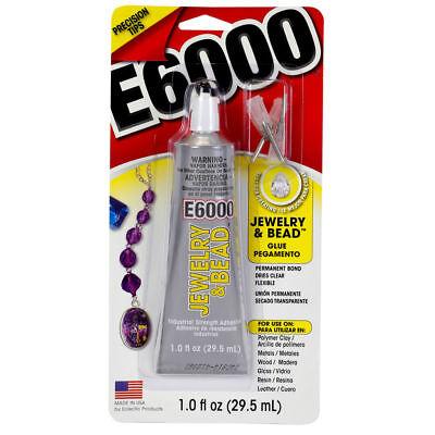 E6000 Joyería & Cuenta Pegamento con 4 Precisión Puntas - 29.6ml Ml...