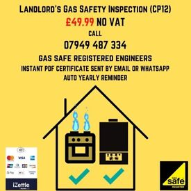 Gas Cooker install, Landlord Certificate, boiler service, power flush