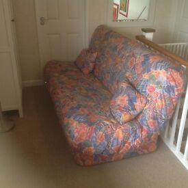 IKEA bed settee. Sprung mattress. Removable cover. Suitable for regular use. Good condition.