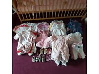 0-3 months baby girl clothes good conditoin