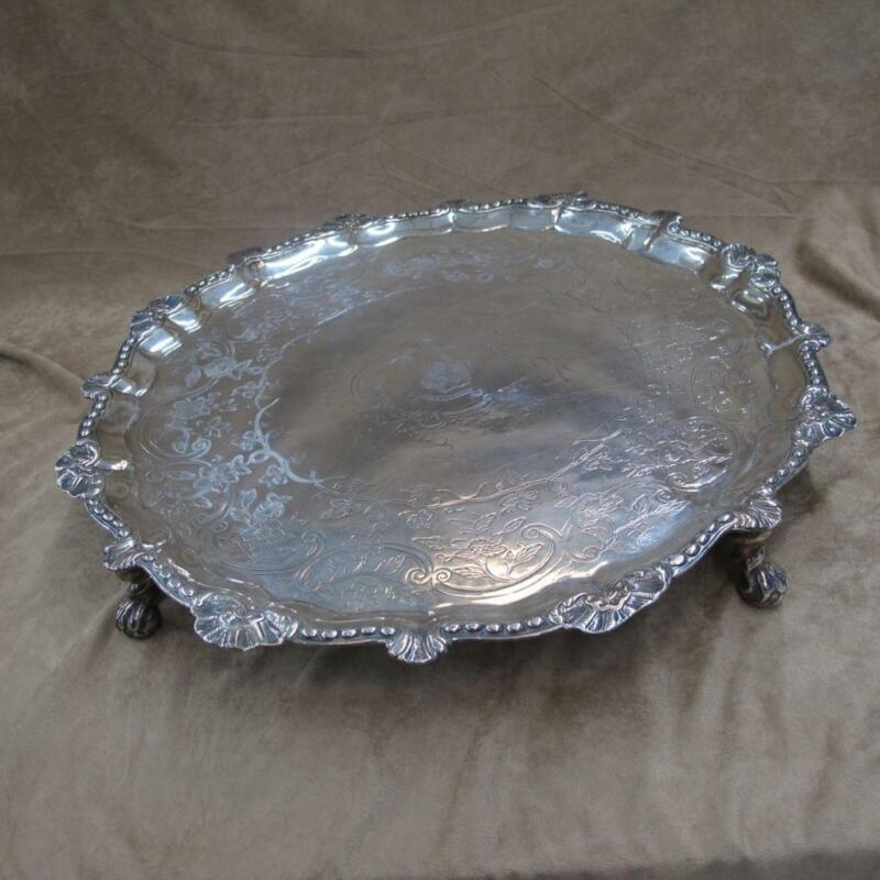1772 Dublin Charles Townsend Sterling Silver Footed Salver Tray 1708g #J852