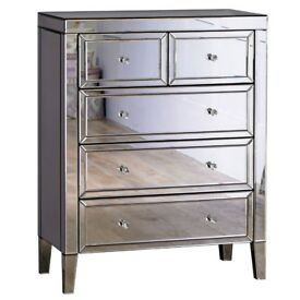 Valencia 3+2 drawer chest MIRRORED - RPP £349