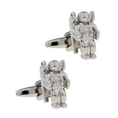 ASTRONAUT CUFFLINKS Jet Pack Spaceman w GIFT BAG Outer Space Man Wedding Groom](Astronaut Jetpack)