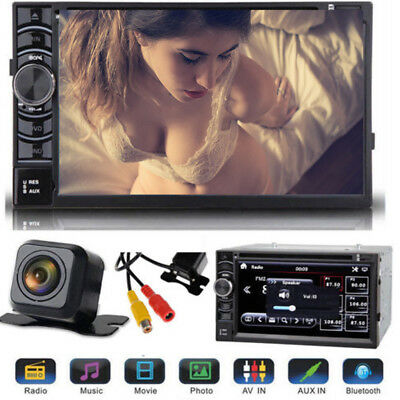 """6.2"""" Double Din Car Van Radio Stereo Player Touch USB SD Rear Camera For Honda"""