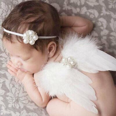 Neugeborenes Baby-Kleinkind-Engels-Flügel-Kostüm Foto Fotografie (Kleiner Engel Flügel Kostüm)