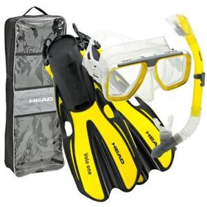 NEW HEAD 480307-SFYL LXL Mares Tarpon/Barracuda Dry/Volo One Adult Set, Yellow