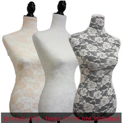 3 Colors Lacejerseys To Cover Female Mannequin Torsoto Renew Dress Form-sizes