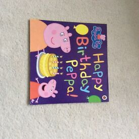 For sale peppa pig 'happy birthday' book in very good condition with 2 free peppa books included £1.