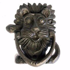 Cast Iron Door Knocker - Lion's Head