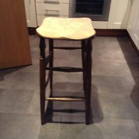 Solid wood stool, four kitchen chairs and small outdoor table all £10!!!!
