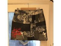 JOE BROWNS Ladies Black & Grey Skirt with Red Detail Size 14