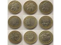 Rare collectable £2 coins (circulated)