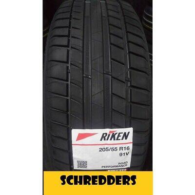 4x RIKEN Reifen 205 / 55 R16 91 V Sommerreifen NEU vom MICHELIN -Konzern