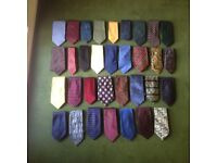 33x assorted ties , many pure silk