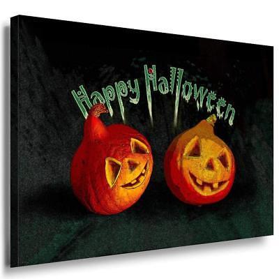 Happy Halloween Leinwandbild AK Art Bilder Mehrfarbig Wandbild Kunstdruck XXL