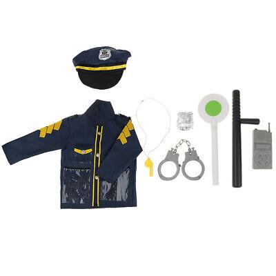 Kinderpolizei Rolle Toy Officer Polizist Kostüm Uniform Hut Kostüm - Polizei Officer Kostüm Kinder