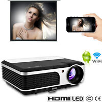 Smart Home Cinema Led Lcd Wifi Projector Hd Online Tv Movie Xbox Airplay Usb Uk - caiwei - ebay.co.uk