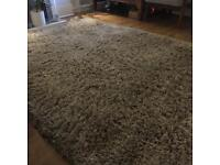 IKEA Gaser high pile rug - grey