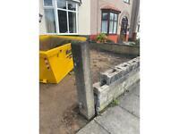 Concrete gate post