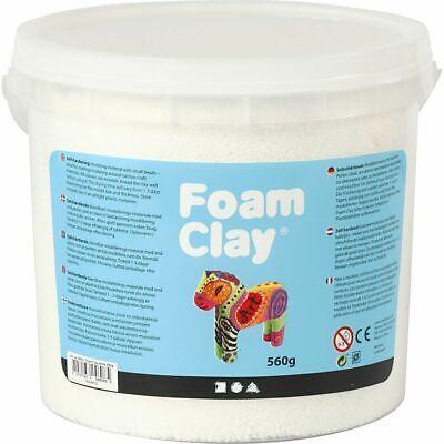 Creativ Company Foam Clay® WHITE- 560g Bucket Self-Hardening Modelling Clay](Self Hardening Clay)