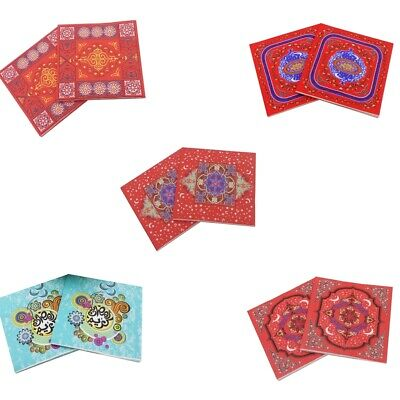 20pcs Ramadan Floral Paper Napkins Tissue for Wedding Birthday Party Decor