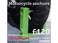 Motorcycle / motor bike security anchors