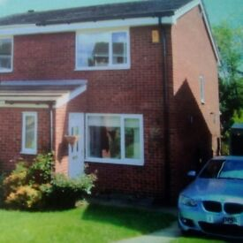 Semi detached 2double. bedroomed house for sale.conservatory,private garden,drive topark 2cars