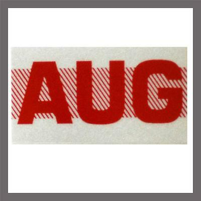 August Month California Dmv License Plate Red Registration Sticker Tag Yom Ca