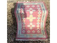 Indian kilim with modern design used but in as new condition
