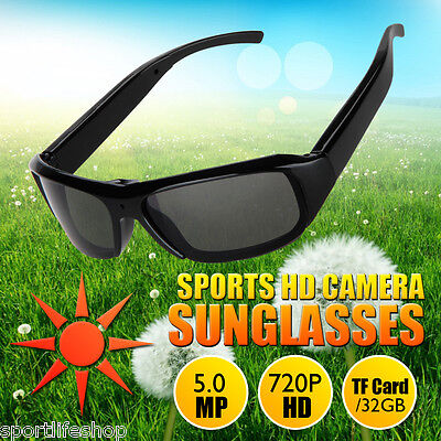 HD Polarized Sunglasses Eyewear Camera Video Recorder Camcorder DV Support TF