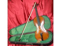 "Orchestral Antique Violin ""The Maidstone"" by John D Murdock and Bow. Body 34.0cm"
