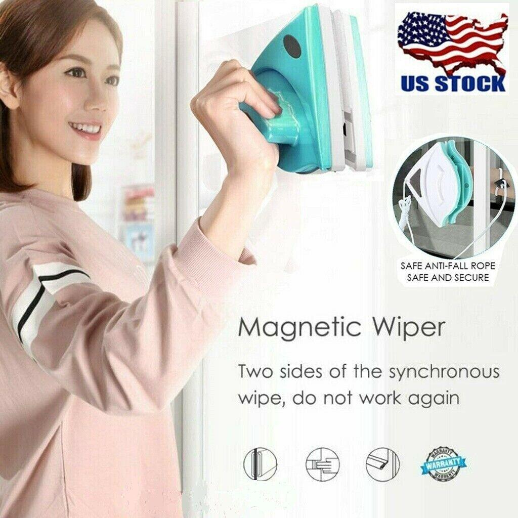 Magnetic Window Cleaner Wiper Glass Brush Tool Double Side Magnetic Window Brush Cleaning Tools