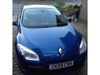 Renault Megane Dynamigue 5 door, Blue 59 plate