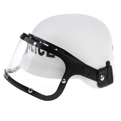 Police Motorcycle Cop Helmet w/ Visor Kid Fancy Dress Costume - Educational (Motorcycle Cop Costume)