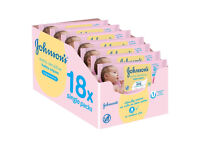 Johnson's Baby Extra Sensitive Fragrance Free Wipes - Pack Of 18 only £9.50 just over 50p a pack