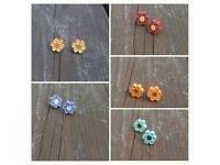 Quilling Earrings (Flower)🌼