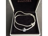 Pandora Necklace with Angel Charm