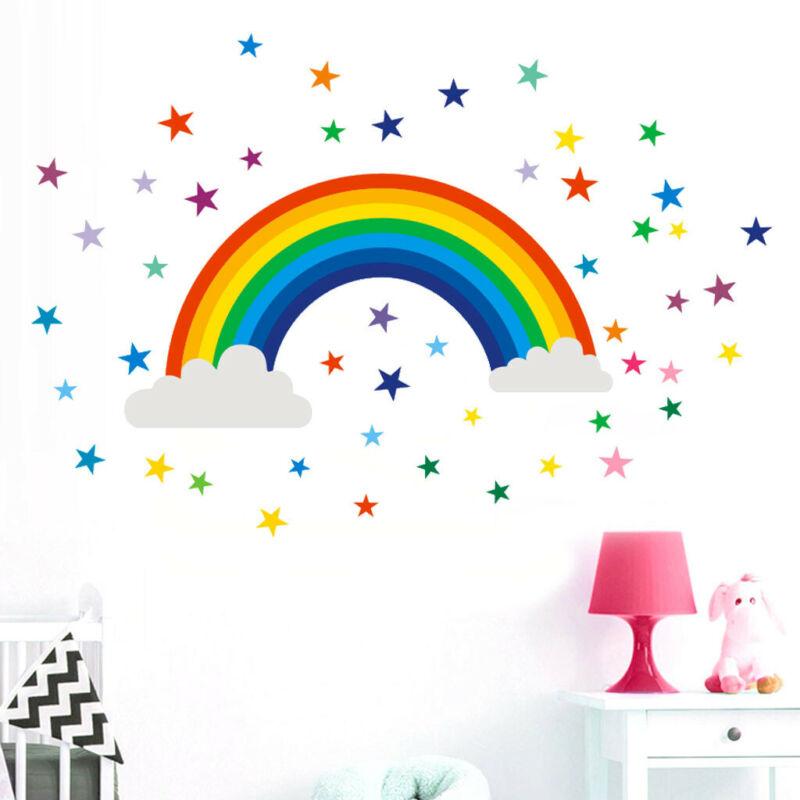 Home Decoration - Home Decor Rainbow Sign Sticker Decal Bedroom Vinyl Art Mural House AU STOCK!