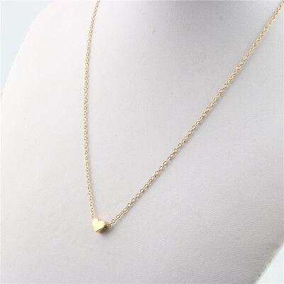 Fashion Jewelry Link Chain Mini Small Heart Pendant Necklace Choker for (Small Heart Link)