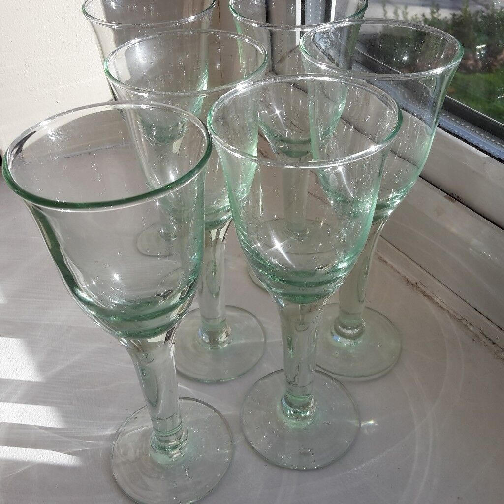7a5639951dd set of 6 Croft recycled wine glasses from John Lewis. New