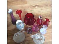 Glass ornaments.