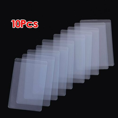 10Pcs Soft Clear Plastic Card Sleeves Protectors, for ID Car