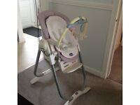 Chicco high chair prolly magic, 3 in 1 highchair