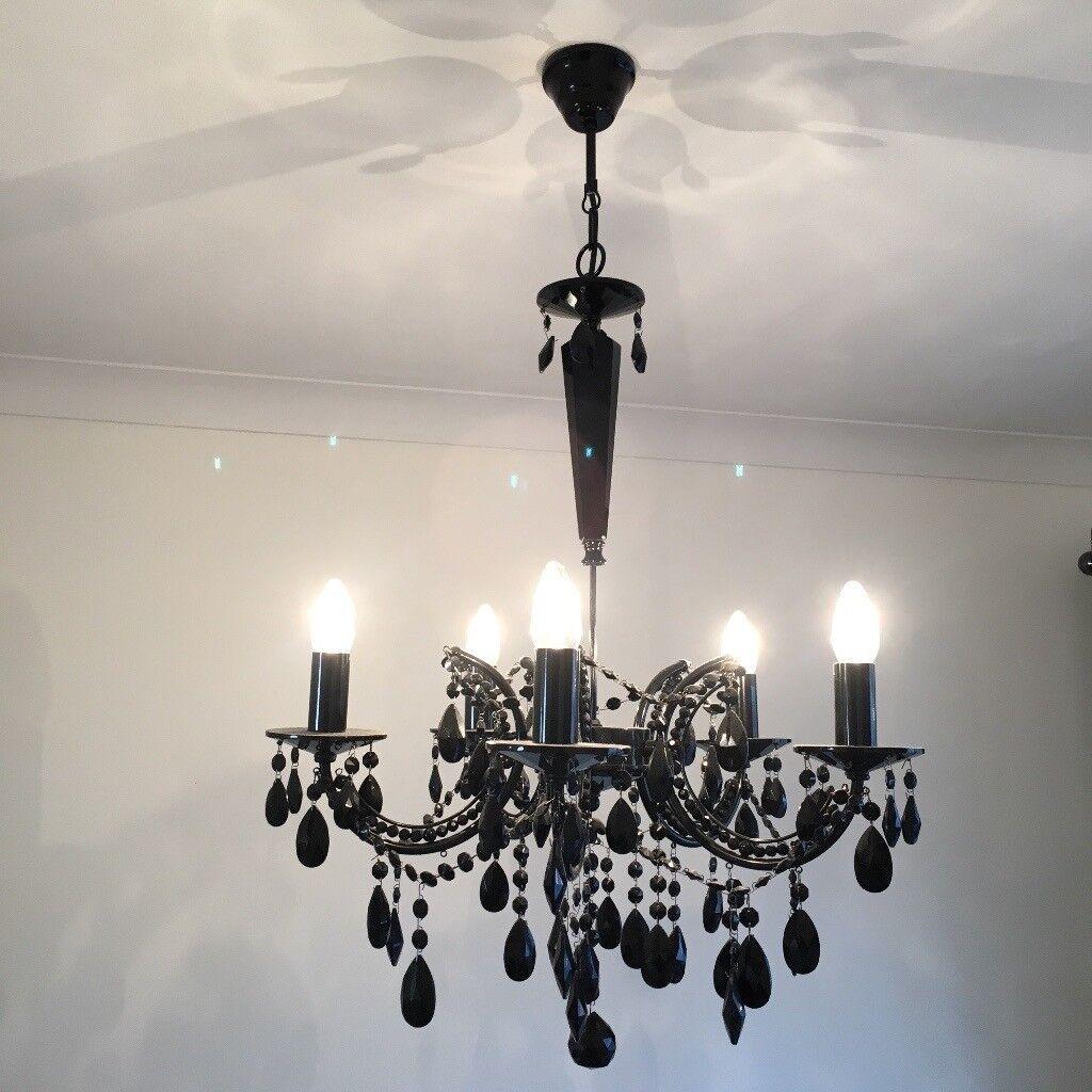 statement lighting. Black Chandelier - Statement Light Fitting GOOD CONDITION £25 ONO Lighting T